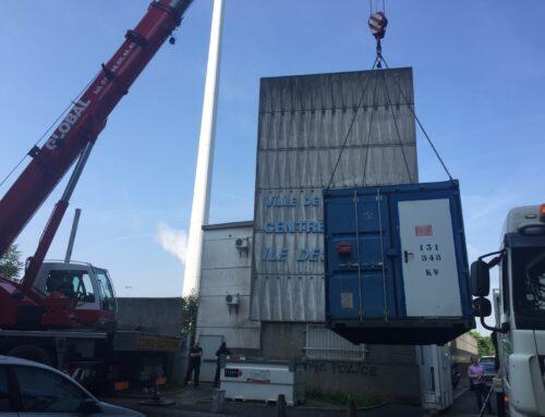 Mise en place de chaudière provisoire au siège de TF1 à Boulogne